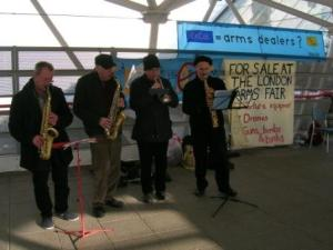 Musical Protest Against Arms Fair